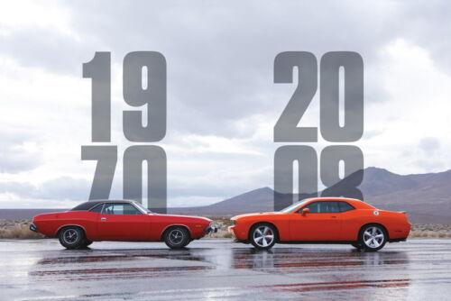 """001 Dodge Challenger SRT SRT8 Super Racing Car 36/""""x24/"""" Poster"""