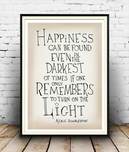 Happiness-Albus-Dumbledore-quote-from-Harry-Potter-Poster-reproduction