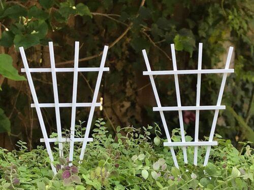 Miniature Dollhouse FAIRY GARDEN Accessories ~ Set// 2 V Shape Wood Trellis ~ NEW