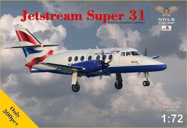1 72 Sova Amodel BAe Jetstream Super 31 with 5 blade propellers 72007
