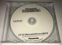 Panasonic Toughbook Cf-25 Manuals / Drivers / Bios 1 Rated Cd Best
