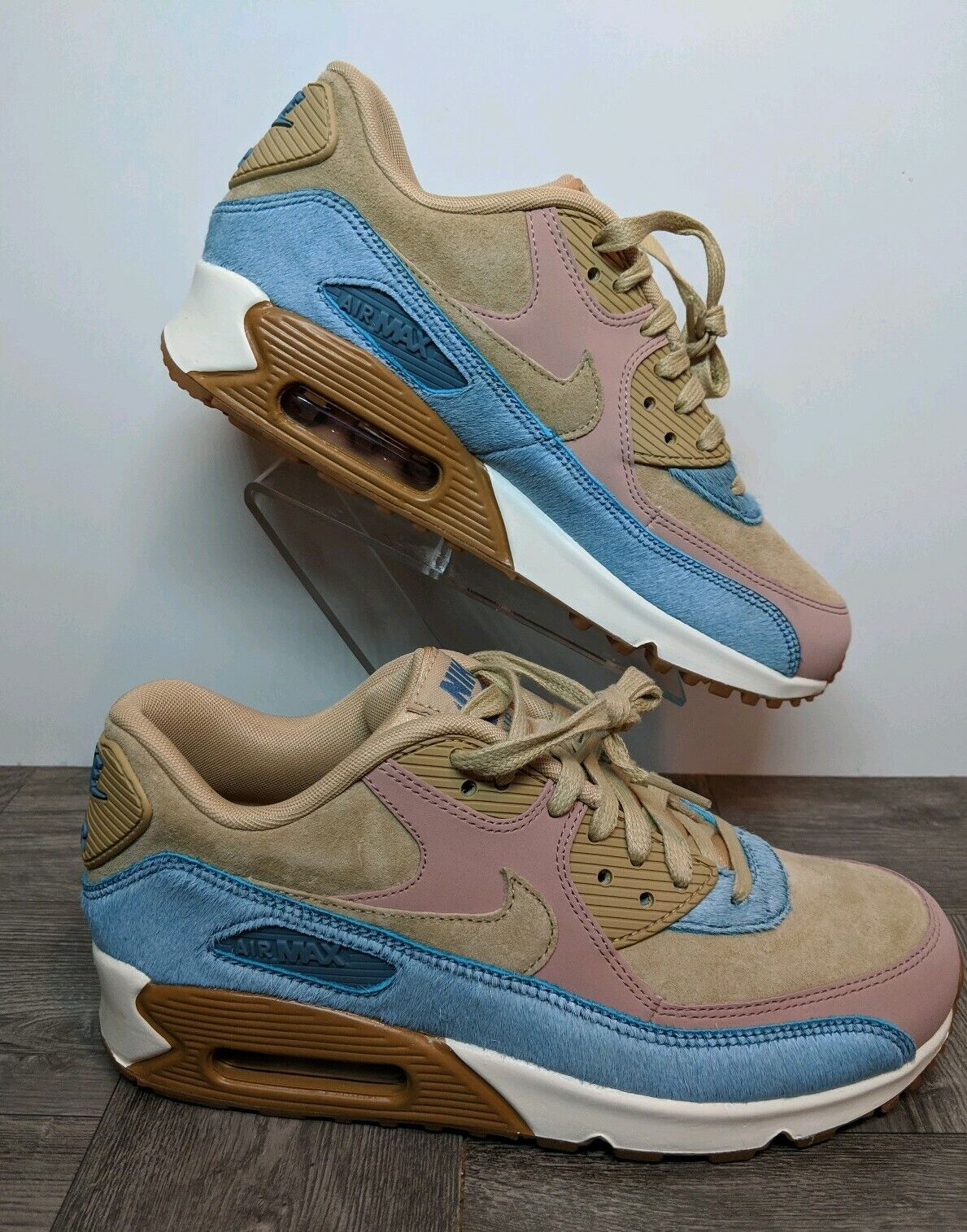 New Nike Air Max 90 LX Mushroom   Smokey bluee 898512-200 Women's shoes Size 6