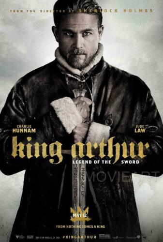 KING ARTHUR LEGEND OF THE SWORD CHARLIE HUNNAM POSTER FILM A4 A3 CINEMA MOVIE