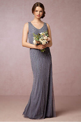 New BHLDN Adrianna Papell BROOKLYN Pale Pink Champagne Prom Formal Bridesmaid 6