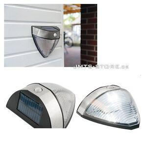 Solar LED Wandleuchte Gartenlampe mit PIR-Bewegungsmelder Dämmerungssensor IP44