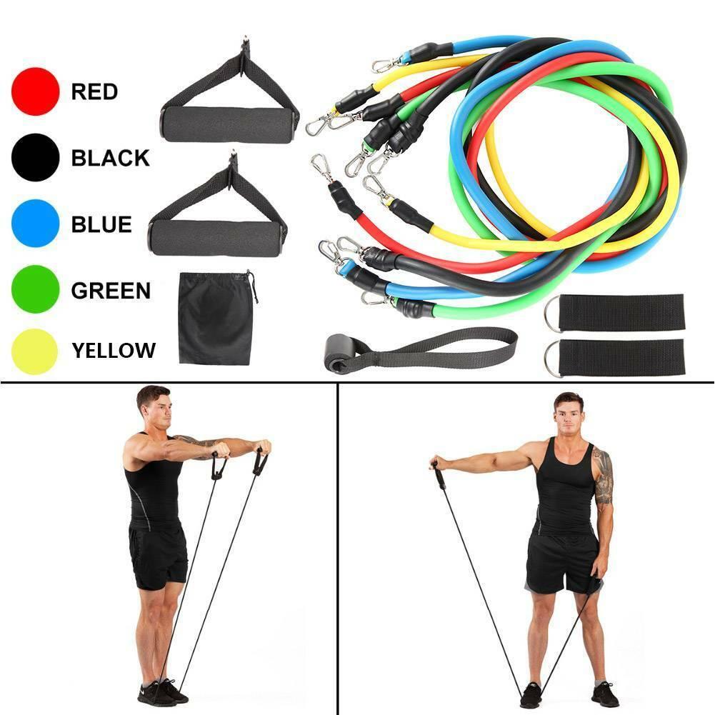 Resistance Bands Workout Exercise Yoga 11Pcs Set Crossfit Fitness Training Tubes 5