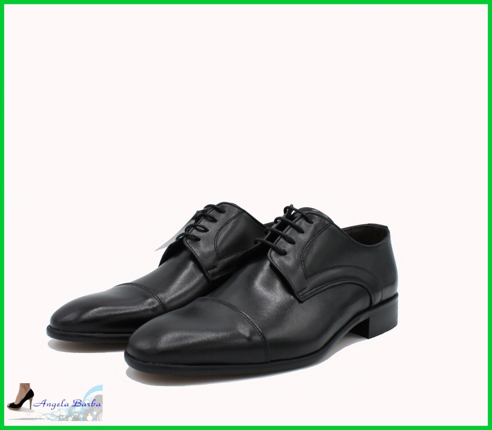 negozio fa acquisti e vendite Scarpe Scarpe Scarpe da Uomo Classiche in Pelle Eleganti per Cerimonia Made In  con Lacci  sconto