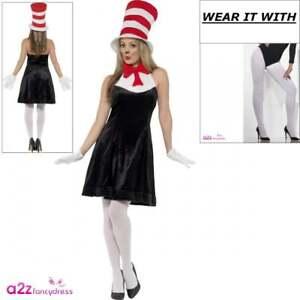 eedac037 Ladies Dr Seuss Cat In The Hat Costume Book Week Adult Ladies Fancy ...