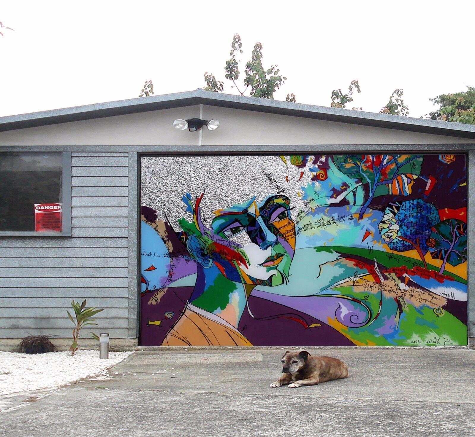3D Abstract Art 9 Garage Door Murals Wall Print Decal Wall AJ WALLPAPER UK Carly