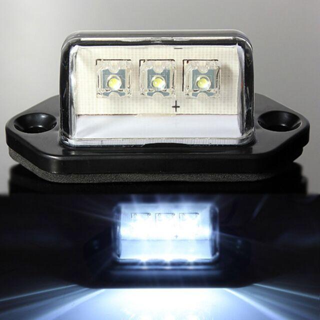 1pcs 10-30V 3LED REAR LICENSE PLATE LIGHTS CAR TRUCK VAN TRAILER LAMP WATERPROOF