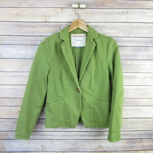 CARTONNIER-Anthropologie-Blazer-Style-Jacket-SIZE-0-Green
