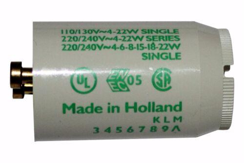 240v x1 PHILIPS Fluorescent Tube Starter 4W-22W Series Starter S2 4-22w  220V