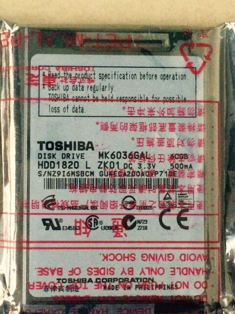 "Toshiba MK6036GAL  60GB 1.8/"" REPLACE MK3008GAL HS030GB upgrade  ZUNE 30G IPOD"