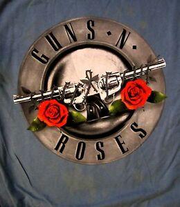 GUNS-N-039-ROSES-cd-cvr-CLASSIC-FADED-ROSES-LOGO-Official-SHIRT-LRG-New-appetite