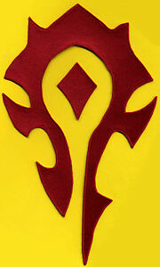 World-of-Warcraft-HORDE-7-034-x11-5-034-Embroidered-Iron-on-PATCH-color-choice
