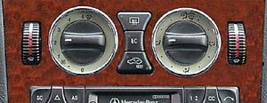 Mercedes-Benz-W201-W202-W208-W210-W638-Chrome-Air-Vents-A-C-Surround-Roms-2pc