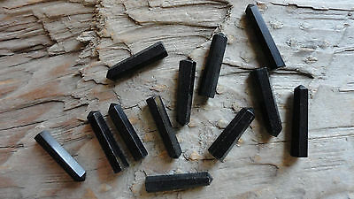 "Point set #17 Obsidian 4mm (pkg 12) Point Pendant stone set approx 3/4"" long"