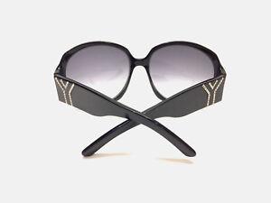 0da3684666b5 YVES St. LAURENT YSL6236/S Black Oversized Frame Crystal-Pave Logo ...