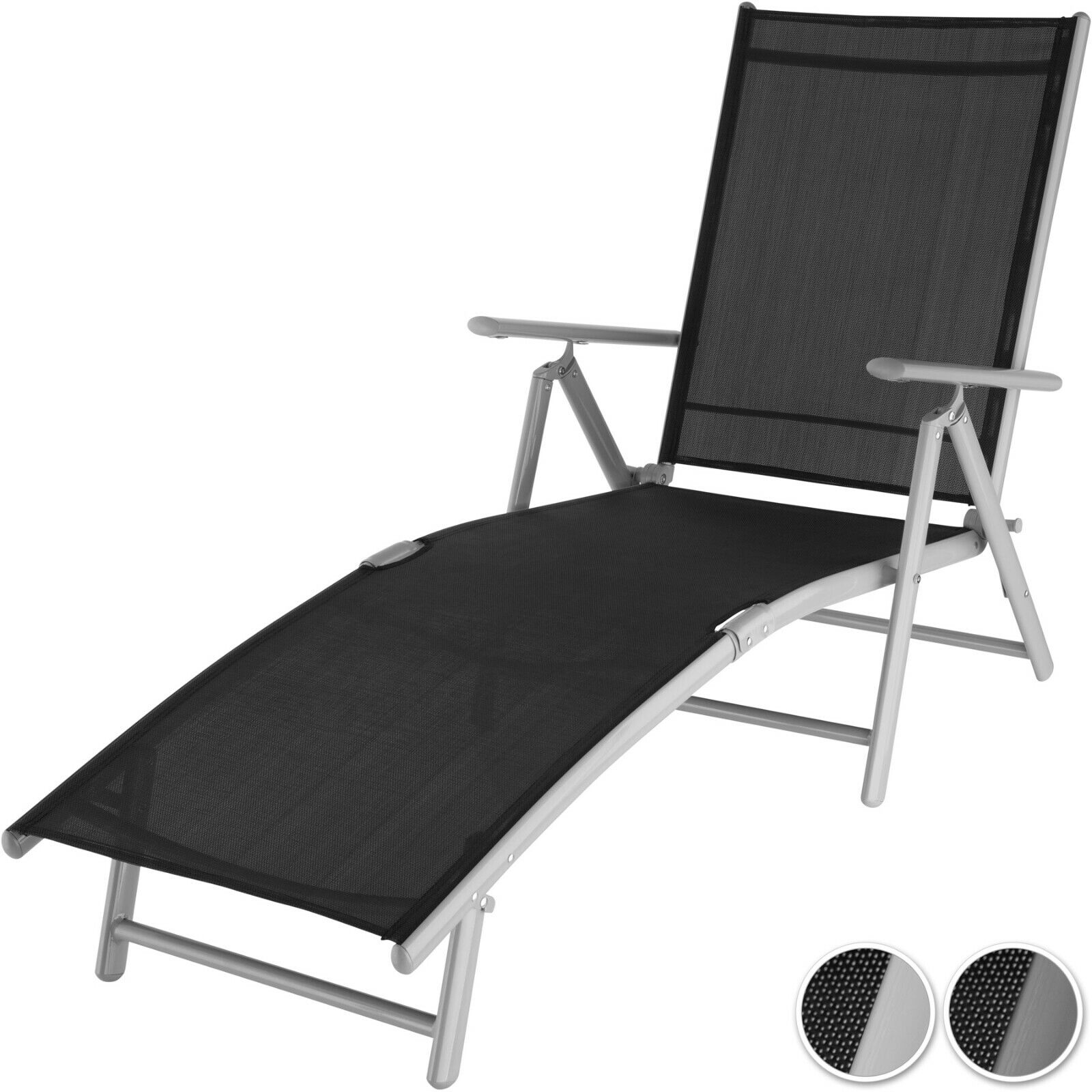 Transat chaise longue bain de soleil jardin piscine pliante relax en aluminium