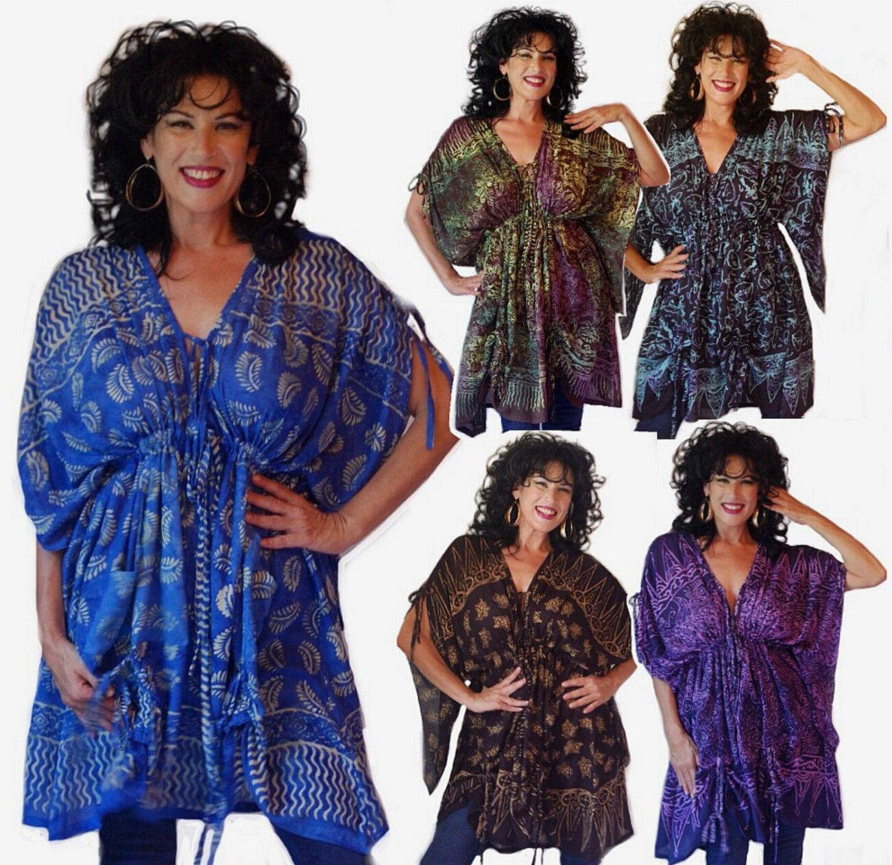 U pick Farbe & Größe poncho top batik elastic empire stunning design OS OR PLUS