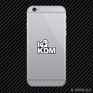 Korean Flag I Love Kdm Cell Phone Sticker Mobile Korea Korean Ebay