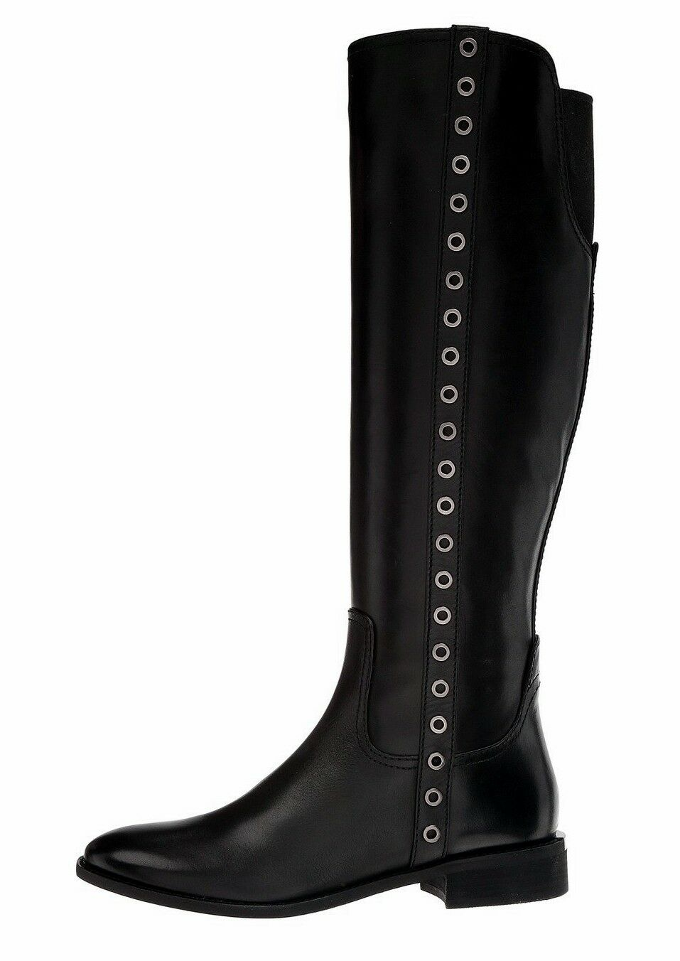 Michael Kors Boots Dora Boat Leather Black Size 38 NEW