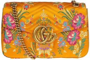 be22ad741e5243 Nuevo GUCCI actual Jacquard Matelasse Floral medio GG Marmont Bolso ...