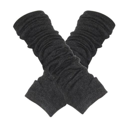 Damen Halbfingerhandschuhe Armhuelse Elastisch dicke Armstulpen Handschuhe R5A7
