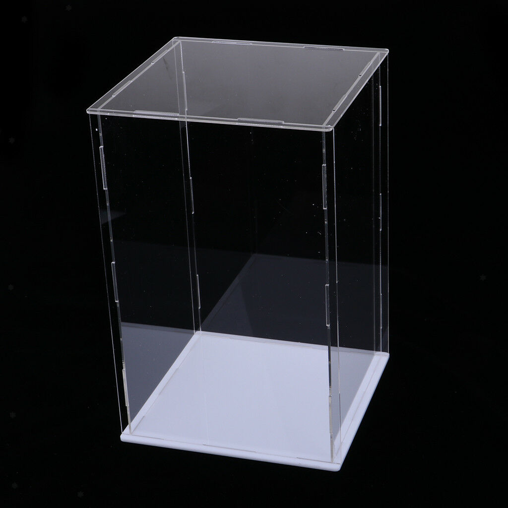 Acrylic Acrylic Acrylic Display Case Dustproof Show Box for Plane Car Boat Model 25x25x30cm 457543