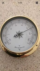 1 pc 115mm  DIAMETER Brass Thermometer