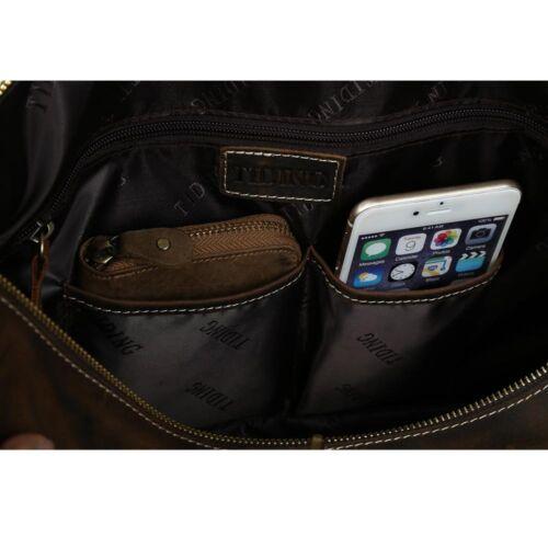 Wild Style Homme bagages Grand Ordinateur Portable Valise Vachette Cuir De Voyage Sacs fourre-tout