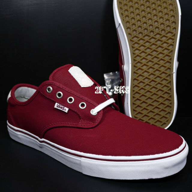 b6049e04a569 VANS CHIMA FERGUSON PRO WAXED CANVAS RED DAHLIA MEN S SKATE SHOE S82144.188
