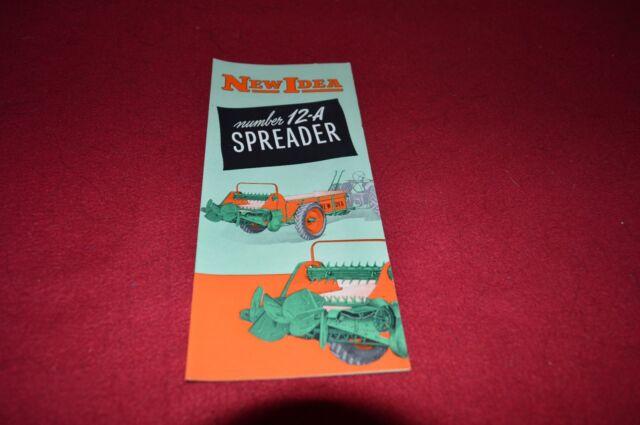 New Idea 12-A Manure Spreader Dealer/'s Brochure DCPA5