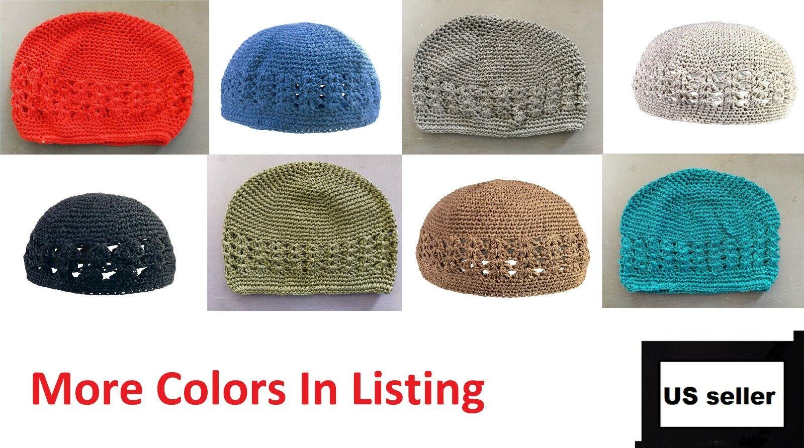 Size 57 F9 tribal vintage cap Islamic Men Hat Muslim salat Imam Hat Embrodery Beanie Kufi prayer ramadan Umrah Hajj Eid Boho Priest silkroad