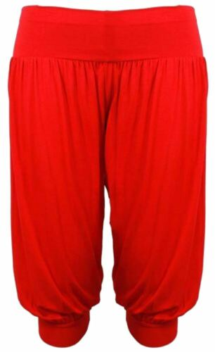 New Ladies Plus Size Cropped Hareem Trousers Short Harem Pants 12-26