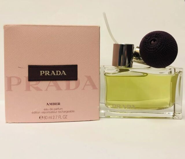70aa2ad2 PRADA Amber EDP Eau De Parfum Deluxe Refillable Spray 80ml Womens Perfume