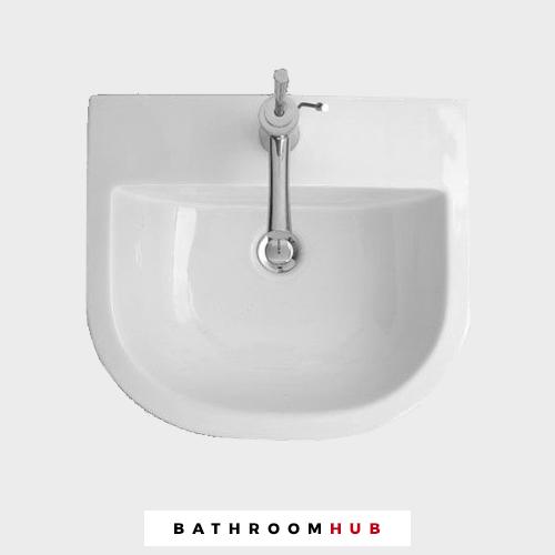 Euro Mono 400 mm 1 Robinet Trou Salle de bains bassin + Gratuit déchets