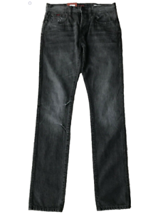 ELWOOD-Men-039-s-Slim-Cinch-Button-Fly-Jeans-Hard-Sewn-Black-BNWT-Size-30