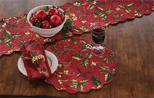 Christmas-Mistletoe-amp-Holly-Quilted-Round-Single-Placemat