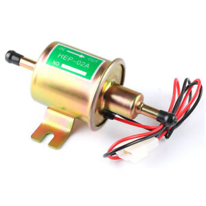 Universal 12V Electric Fuel Pump HEP-02A Gas Diesel Heavy Duty Low Pressure