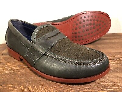 Cole Haan Air Monroe Penny Loafers Green Leather & Wool Sz ...