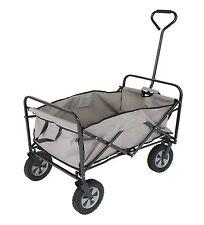 Folding Outdoor Utility Folding Sports Beach Wagon Cart Gray Black  NWT