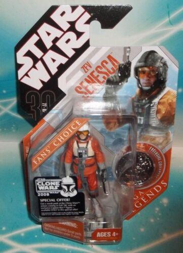 STAR WARS TAC 30TH ANNIVERSARY Saga Legends SL Rebel Pilot Zev Senesca Figure