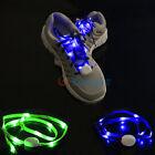 LED Flashing Lighting Light UP Glow in The Dark Skating Shoe Laces Shoelaces