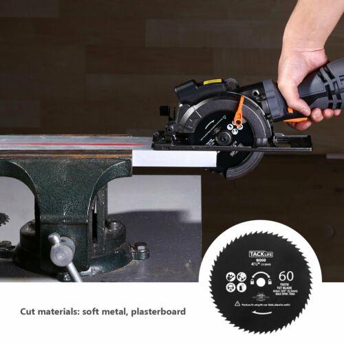 "6 Blades 4-3//4/"" /& 4-1//2"" Laser Guide, TACKLIFE Circular Saw with Metal Handle"