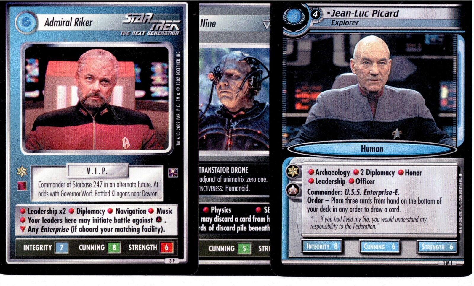 Star Trek CCG 1E & 2E Oversize Promo Card Set