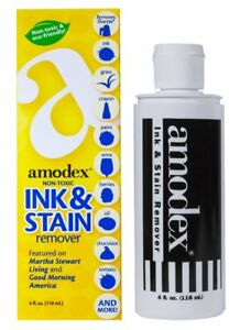AMODEX INK & STAIN REMOVER 4OZ NON-TOXIC
