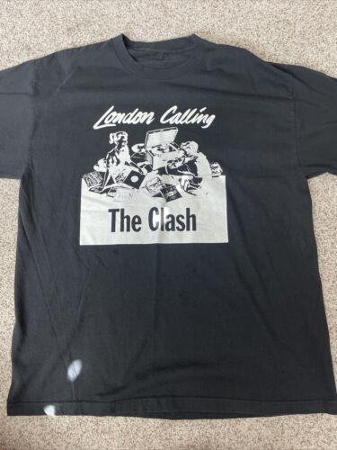 "The Clash - ""London Calling"" - Black Shirt  Large"