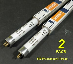 Details about 2 x 6W T5 Fluorescent Tubes Lamps 4000K Cool White 226mm OSRAM