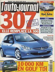 L-039-AUTO-JOURNAL-1998-n-486-Peugeot-307-Opel-Astra-VW-Golf-Fiat-600-Skoda-Octavia